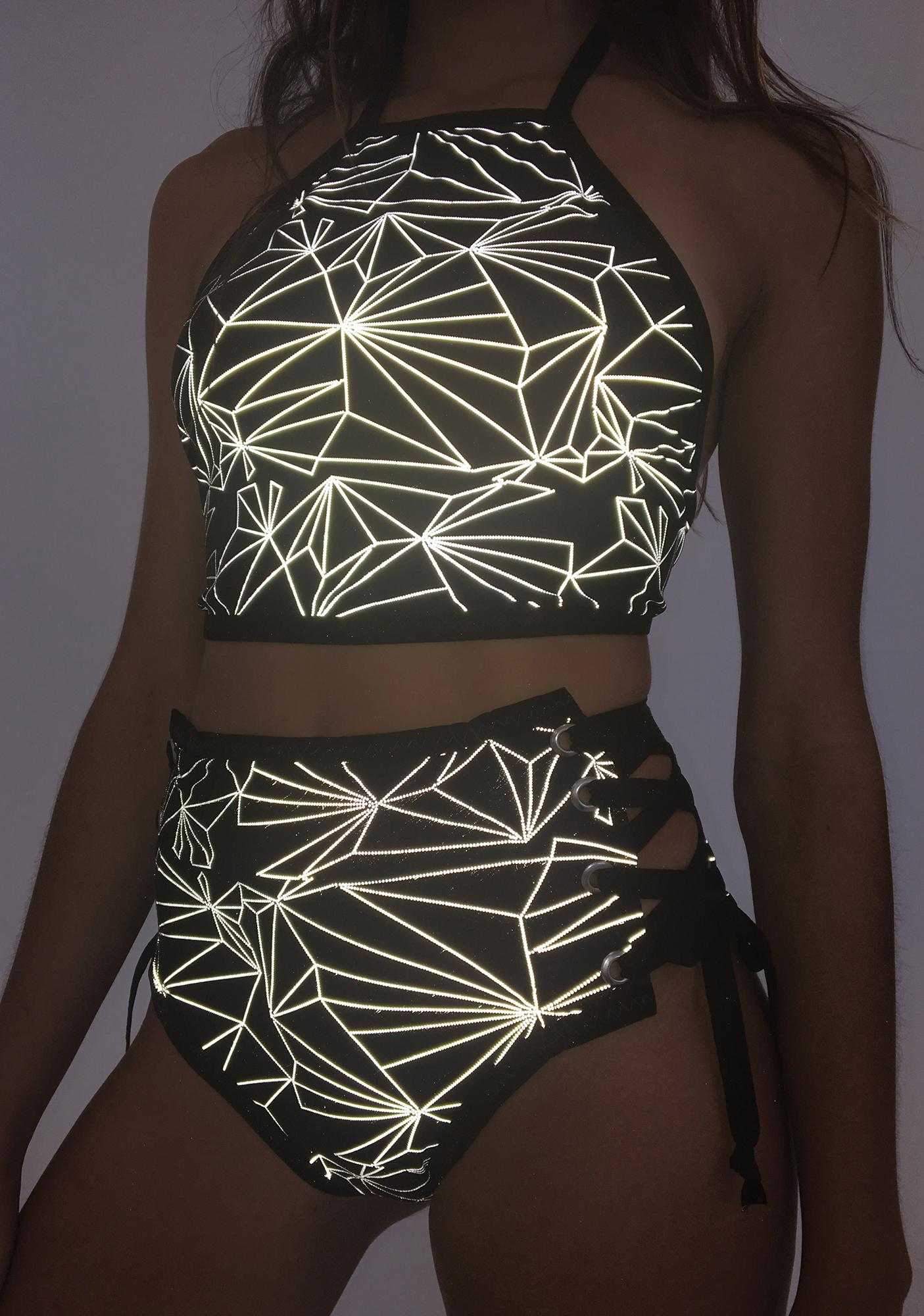 The Lyte Couture Light Up High Waist Shorts