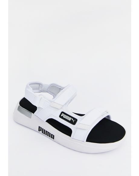 White Rider Sandals