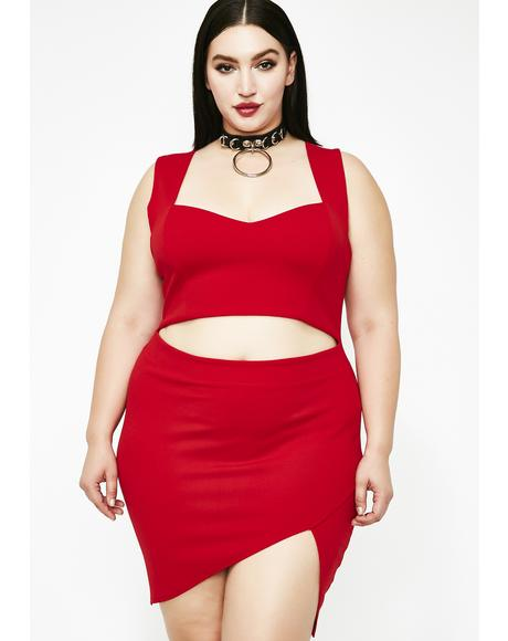 Bloody Impure Thoughts Cut Out Dress