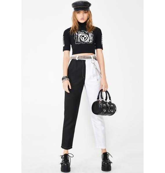 LOVE TOO TRUE Yin To My Yang Clash It Trousers