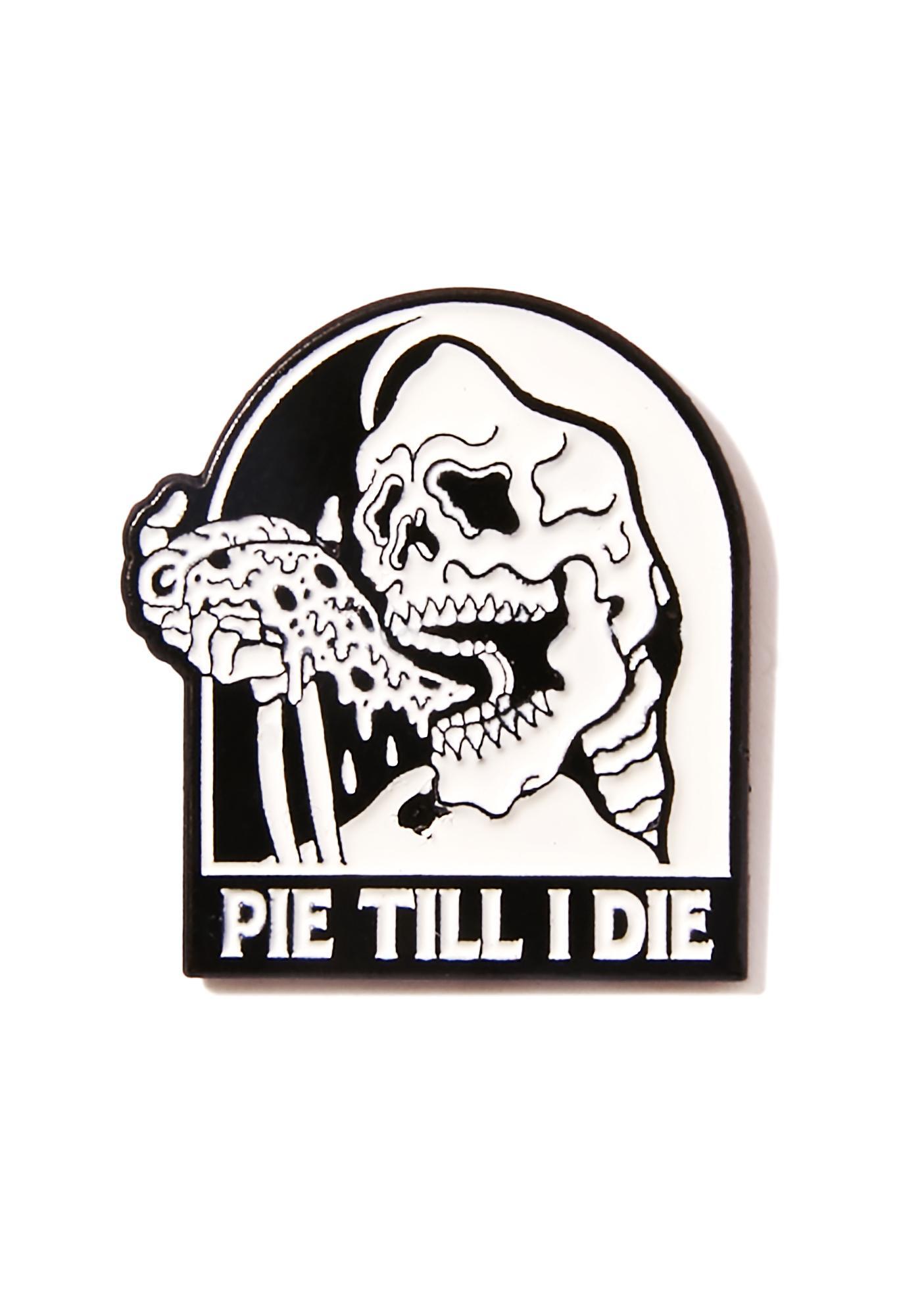 Sketchy Tank Pie Lapel Pin