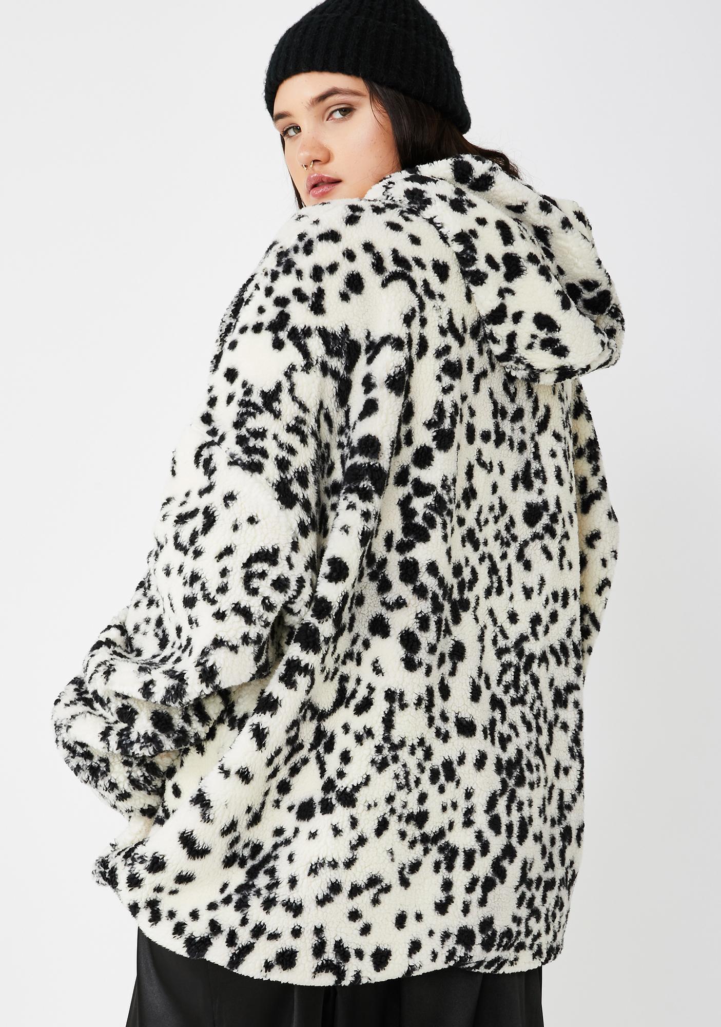 NEW GIRL ORDER Plus Dalmatian Teddy Jacket