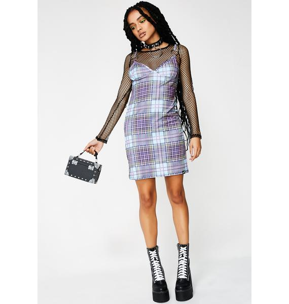 Illustrated People Tartan Mini Dress