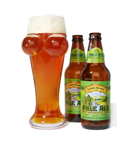 Boobies N' Brewskis Beer Glass