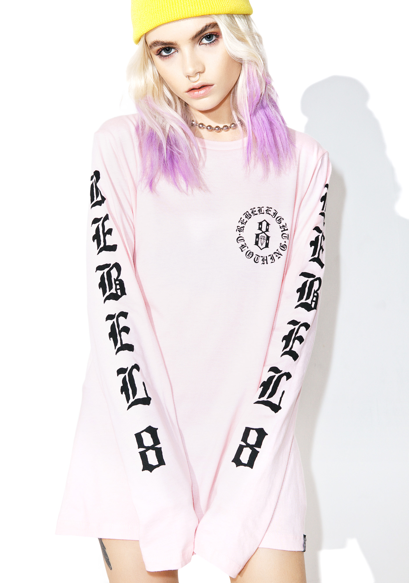Rebel8 Immortals Pink Long Sleeve Tee