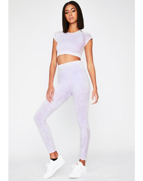 Lavender Running Start Seamless Leggings