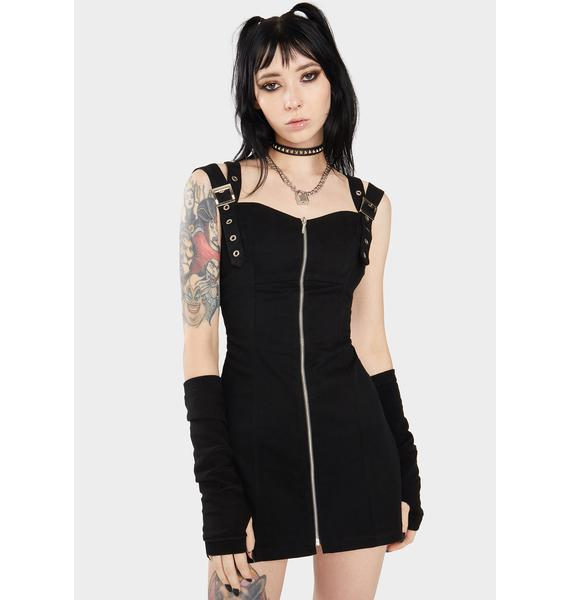 Dr. Faust Kinley Club Double Strap Mini Dress