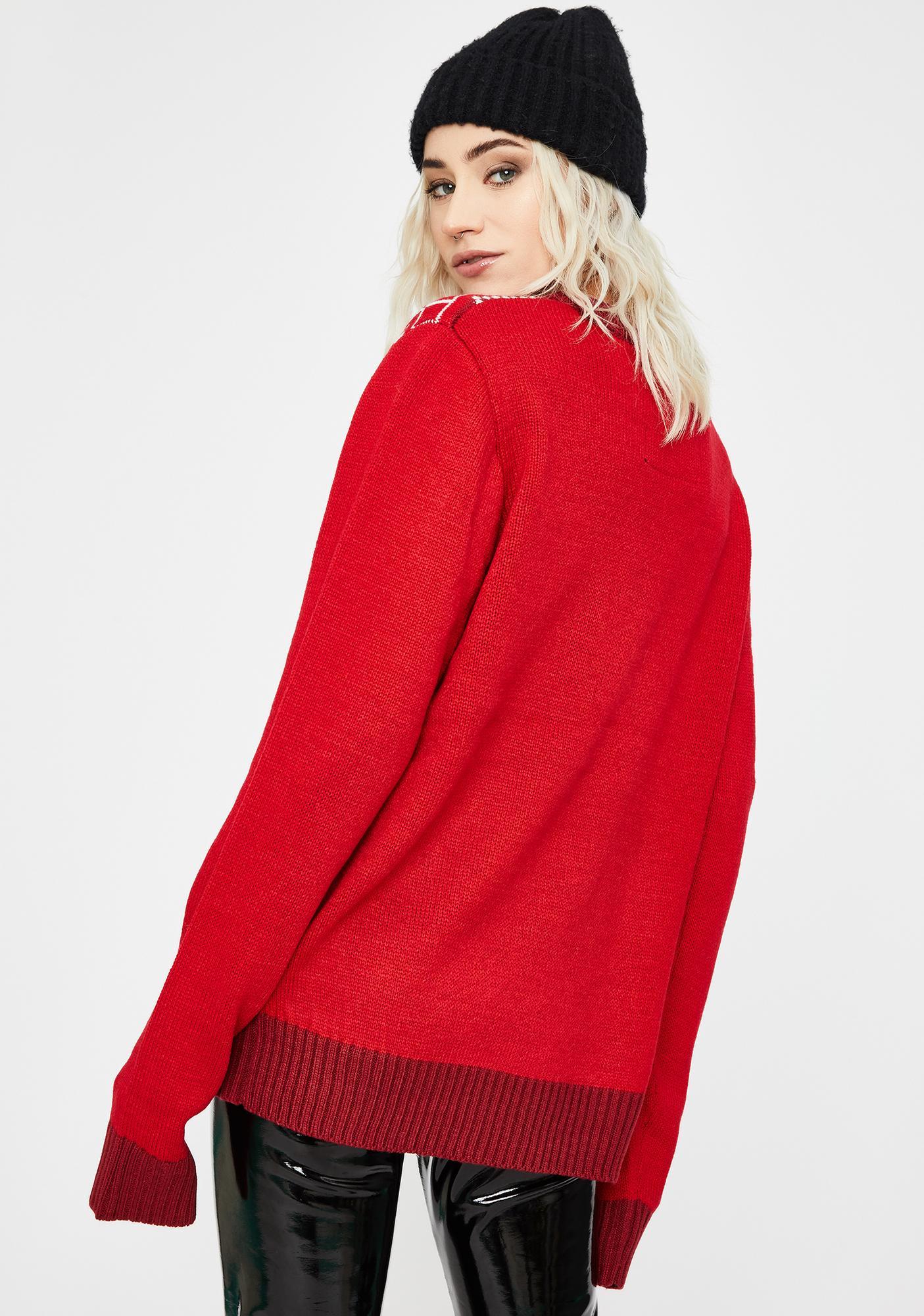 American Stitch Chill Christmas Knit Sweater