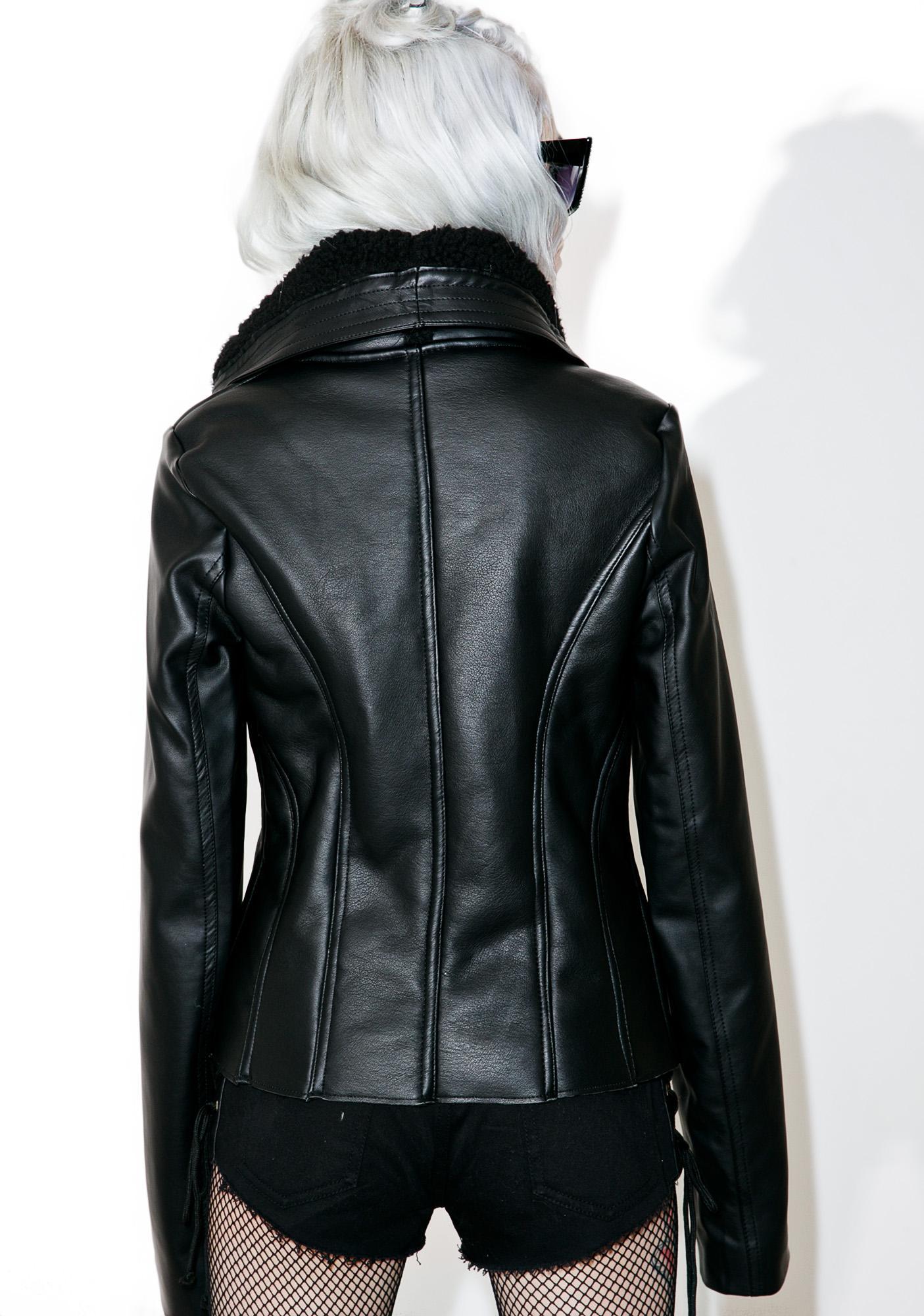 Caspian Cropped Moto Jacket