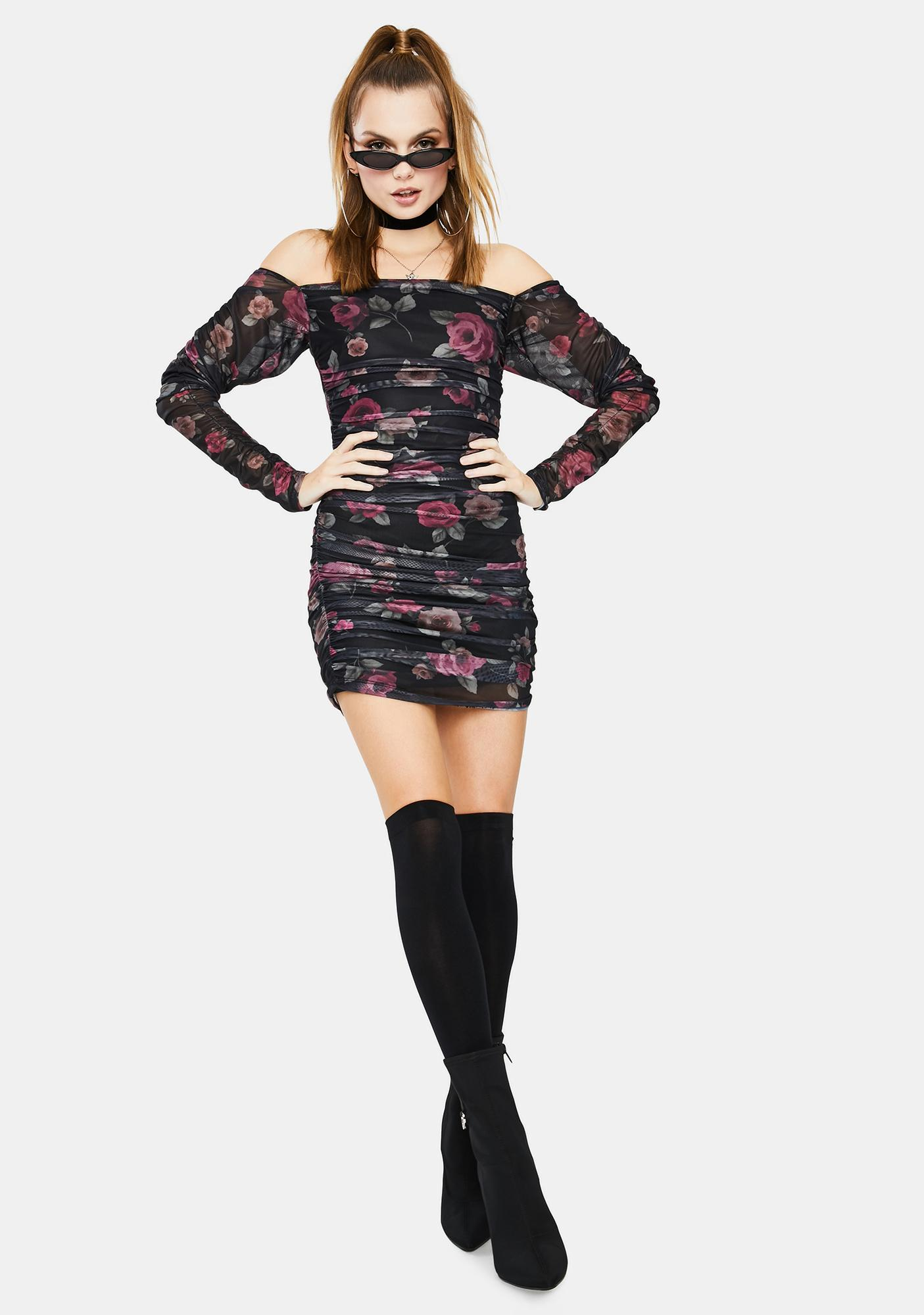 Motel Marilla Ruched Mini Dress