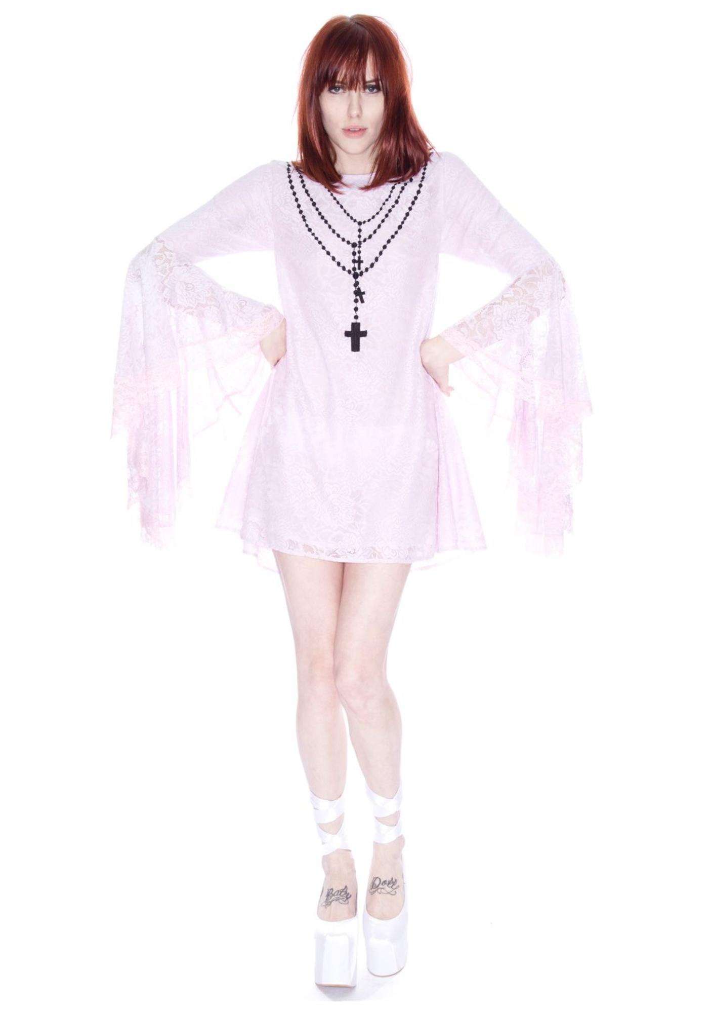 Wildfox Couture New Mexico Flounce Sleeve Dress