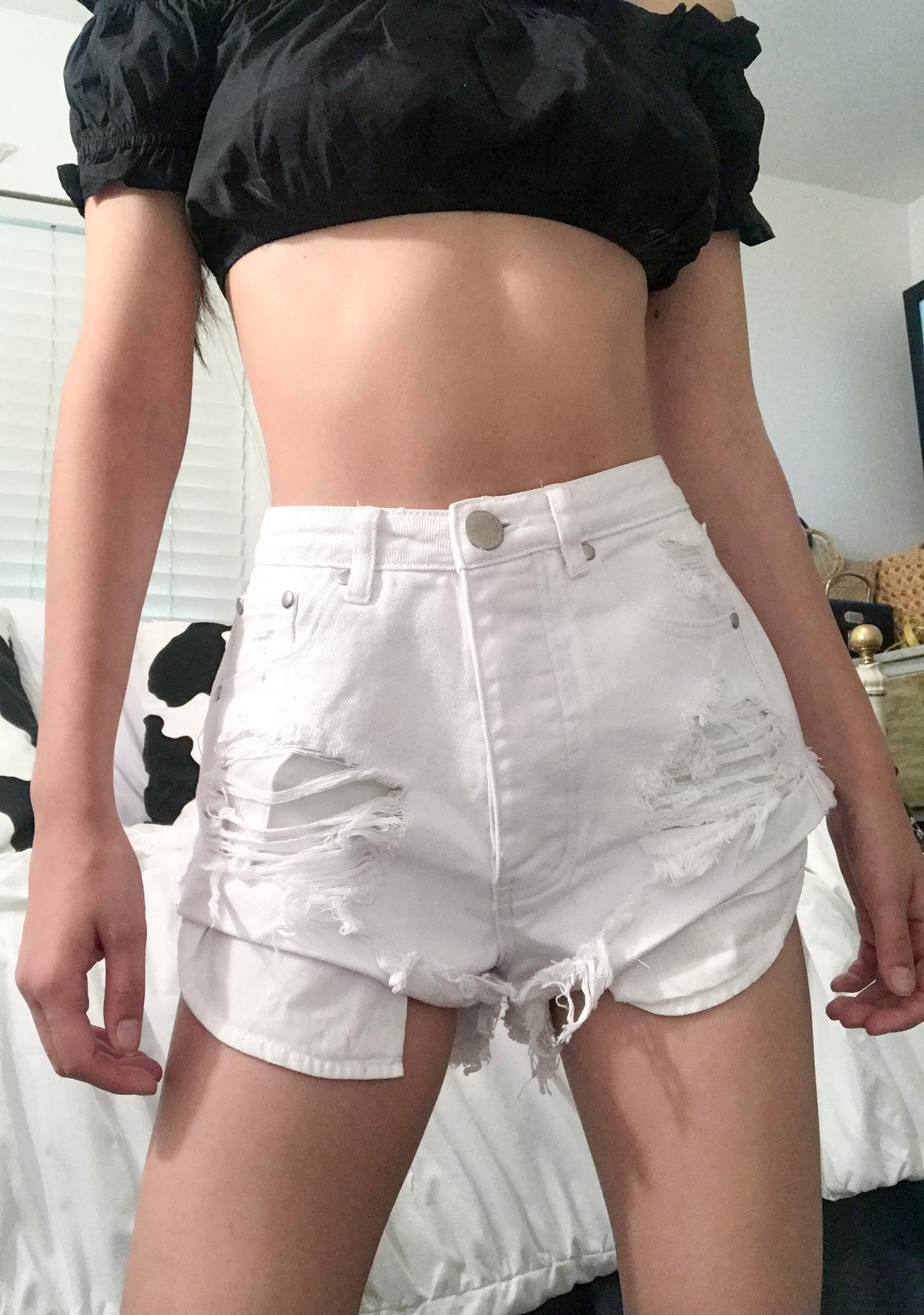 Calm Summer Nights Denim Shorts