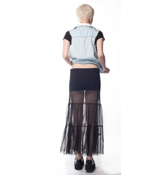 For Love & Lemons Wednesday Mesh Maxi Skirt