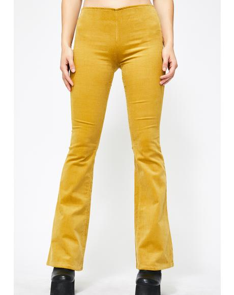 Honey Free Bird Corduroy Flares