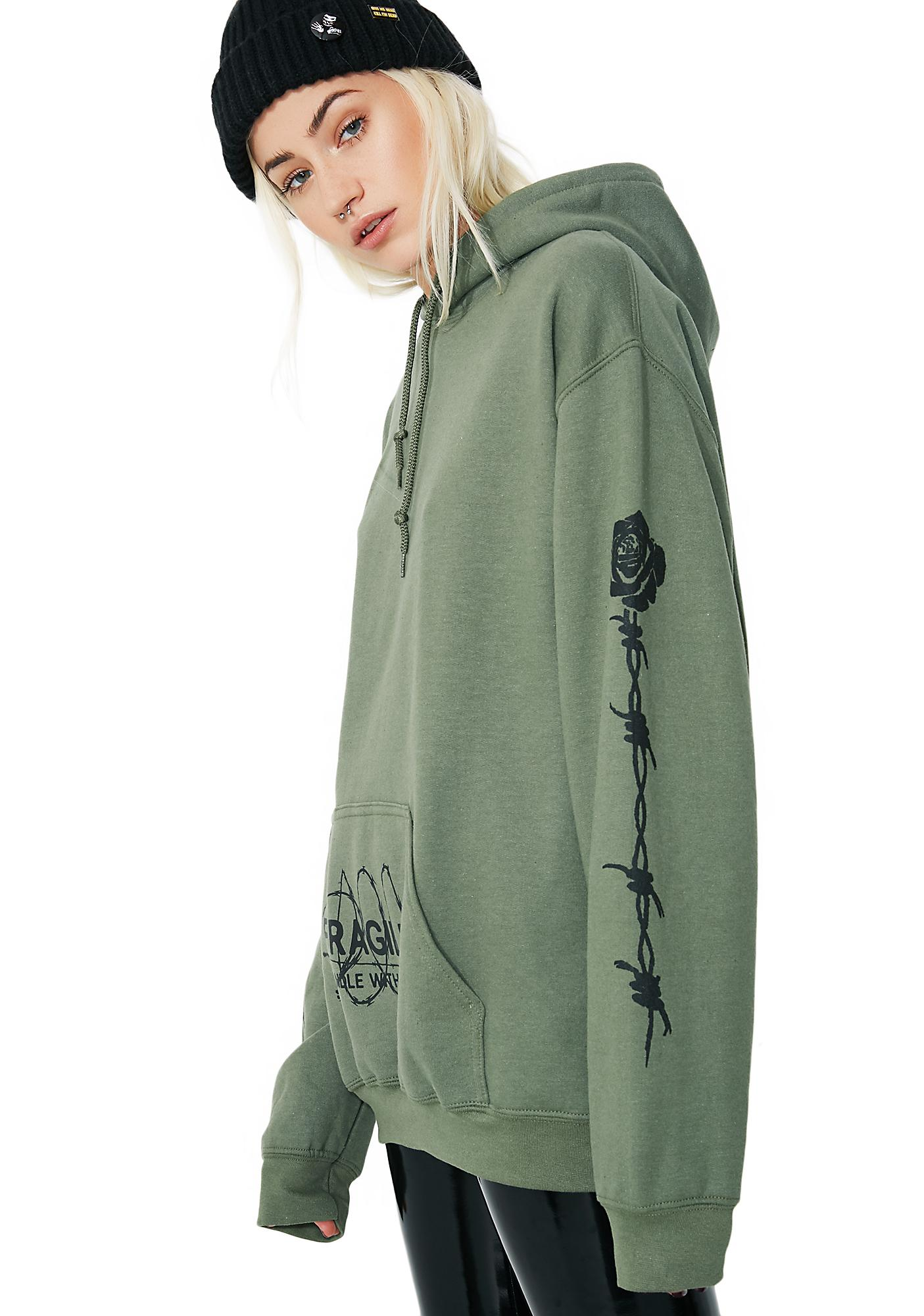 Petals and Peacocks Fragile Hoodie