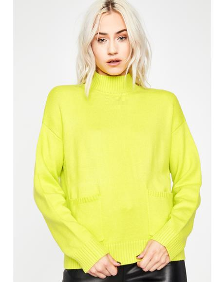 Light N' Bright Turtleneck Sweater