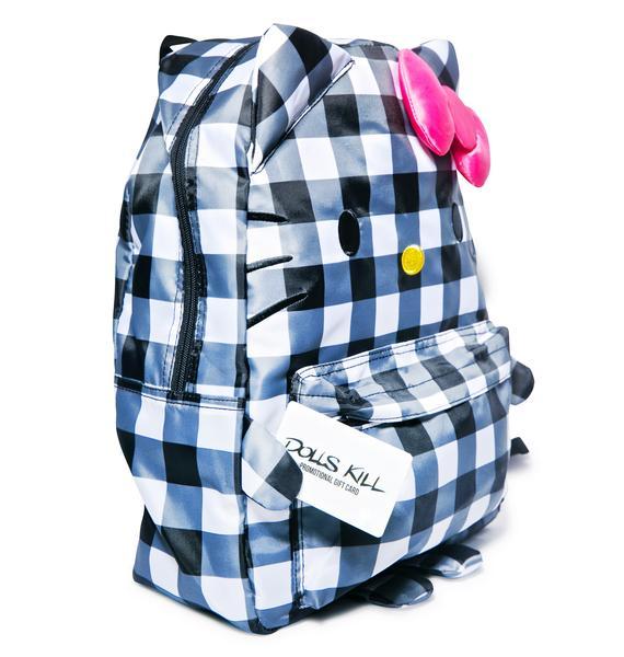 Sanrio Hello Kitty Checkered Backpack