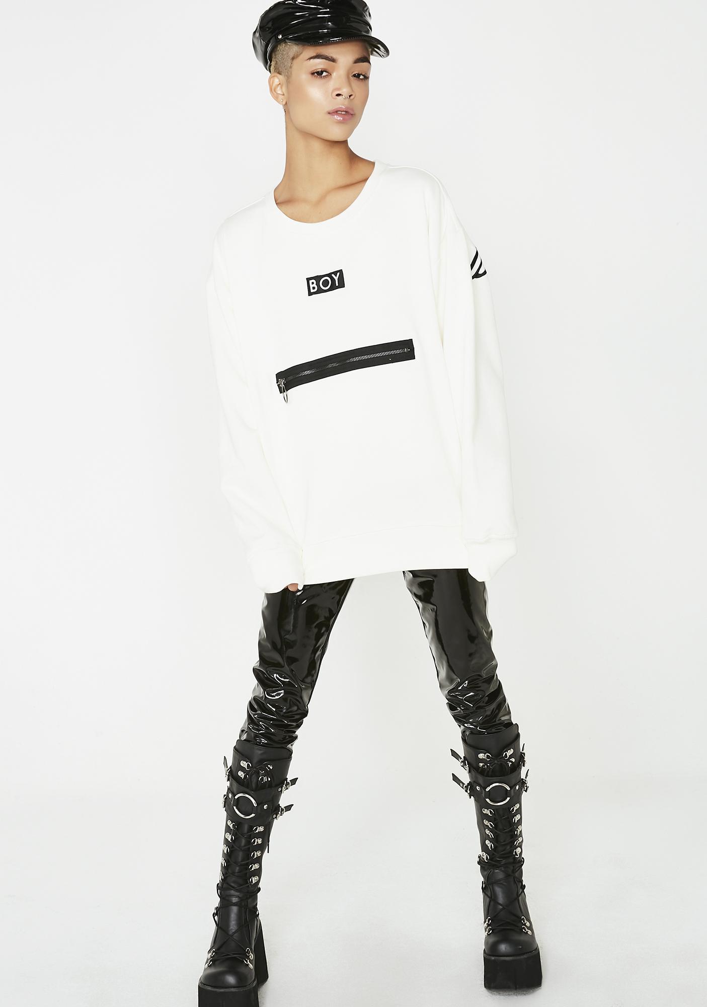 BOY London Boy Grosgrain Sweatshirt