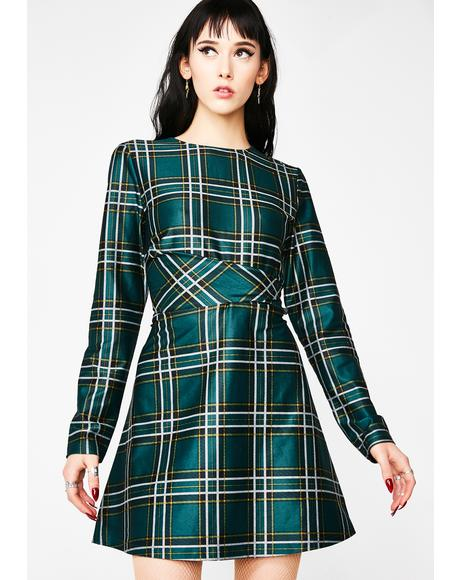 Mind Ya Business Plaid Dress