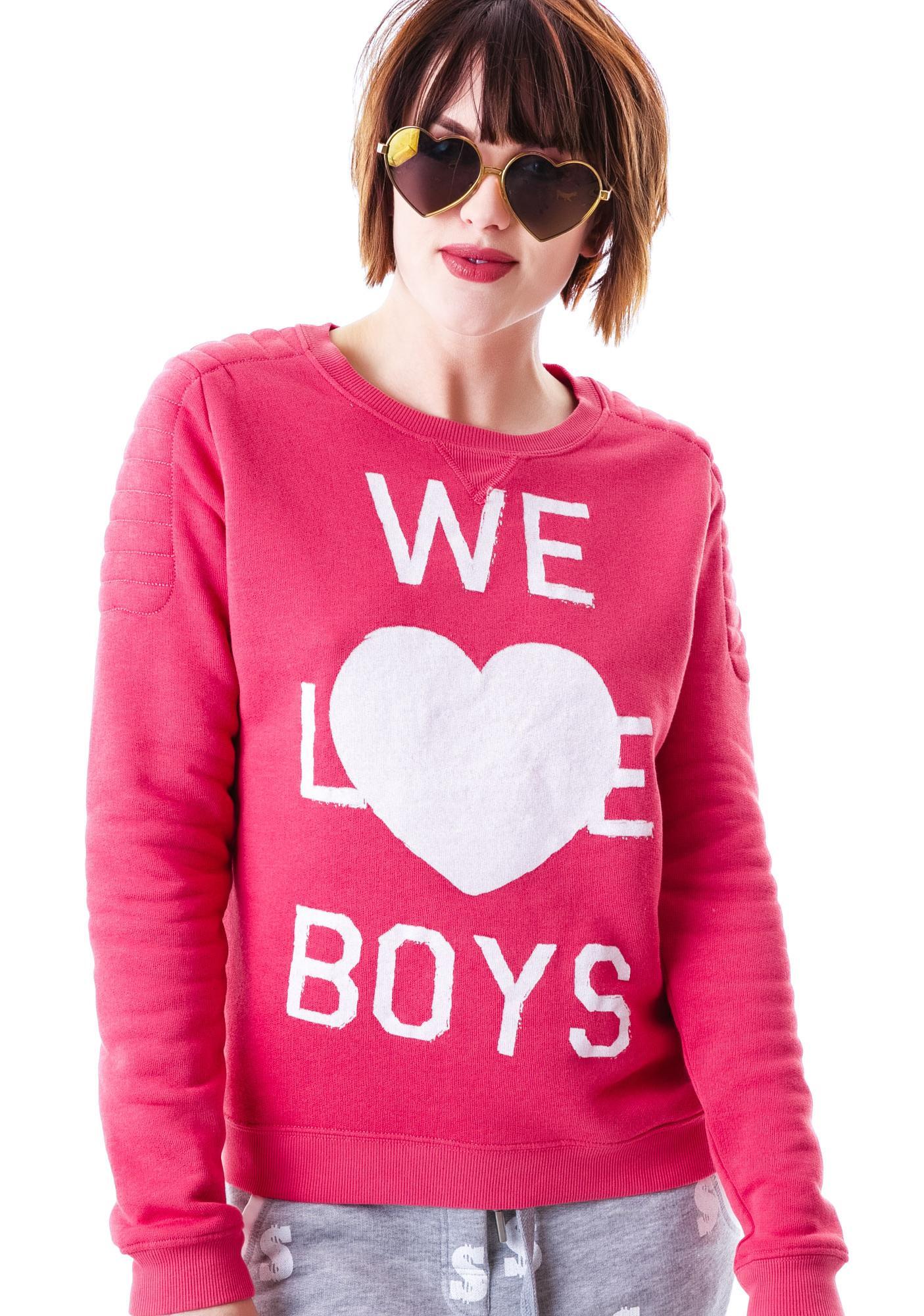 Zoe Karssen We Love Boys Loose Fit Sweater
