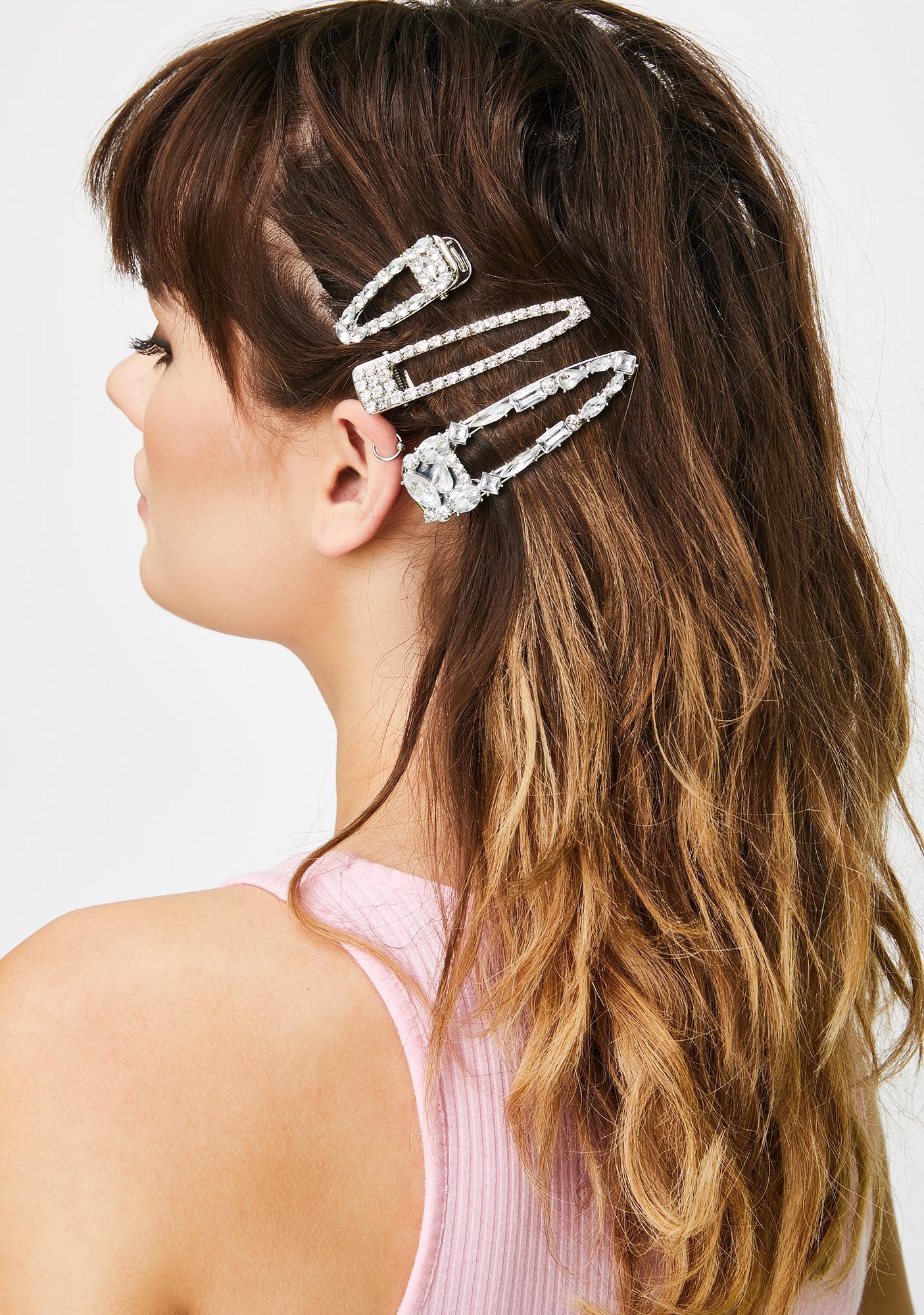 Everlasting Luster Rhinestone Hair Clips