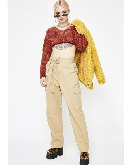 Desert Nightz Crop Sweater