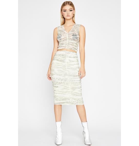 Wild Ferocity Ruched Skirt