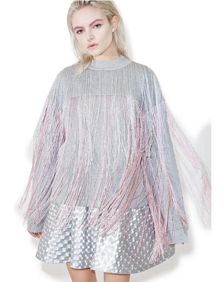 Majoris Metallic Fringed Sweater