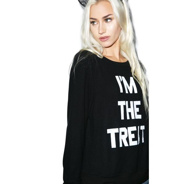 Wildfox Couture Real Treat Baggy Beach Jumper