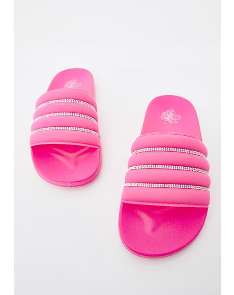 Suga If I Was Rich Rhinestone Sandals