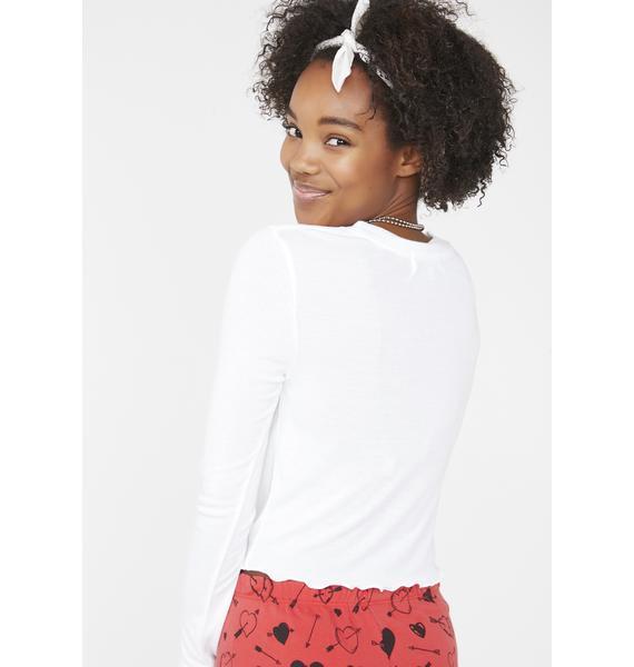Wildfox Couture Love Cherries Ren Long Sleeve Top