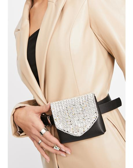 Elite Expenses Rhinestone Belt