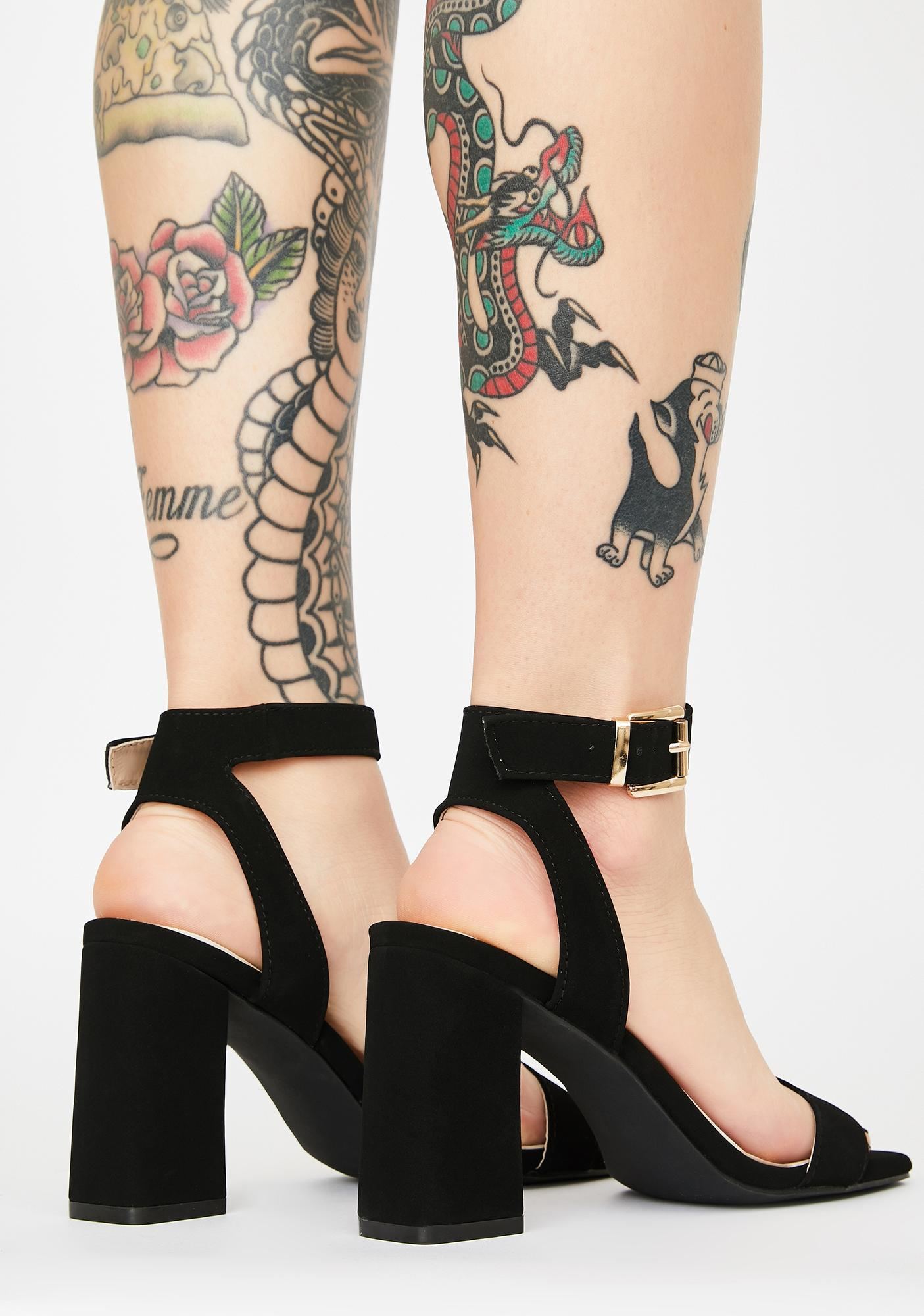 Flirty Signals Block Heels