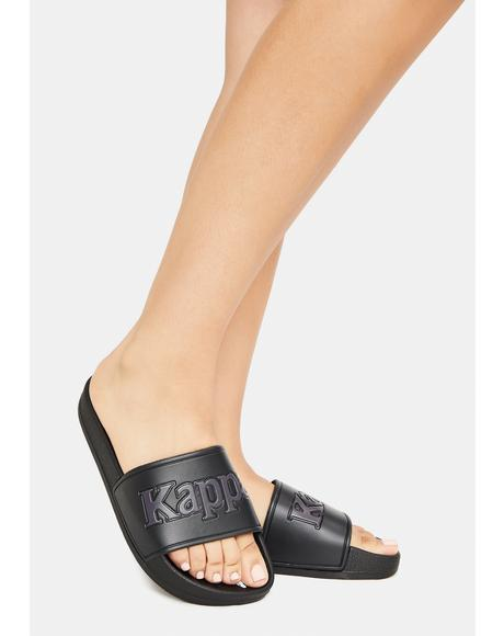 Black 222 Banda Adam 17 Slide Sandals
