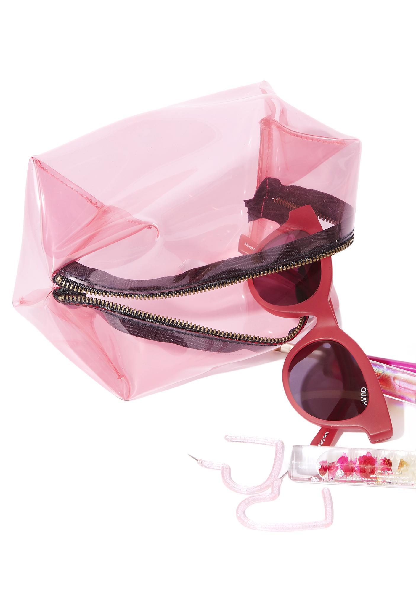 Bubblegum Clearly Slaying Transparent Makeup Bag