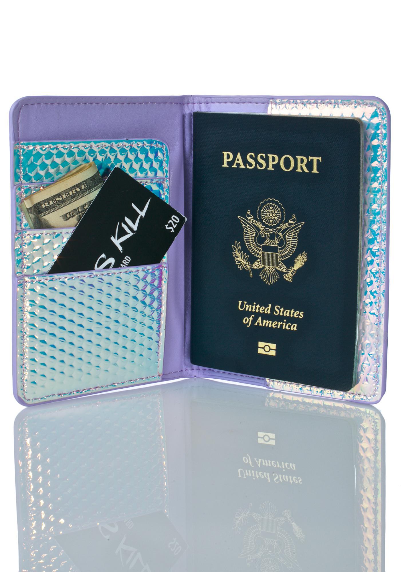 Skinnydip Druzy Passport Holder