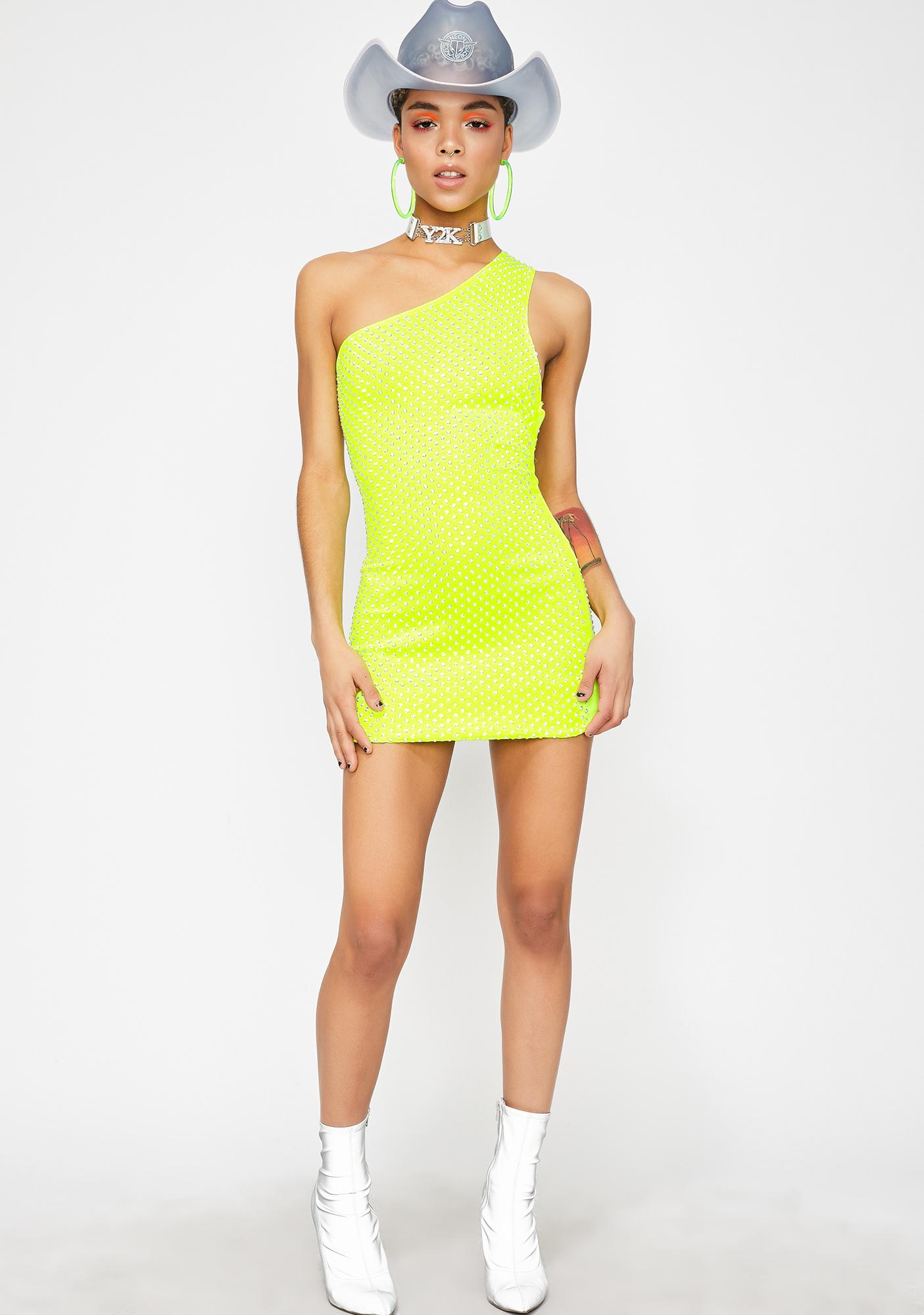 Electrik Anomaly One Shoulder Dress