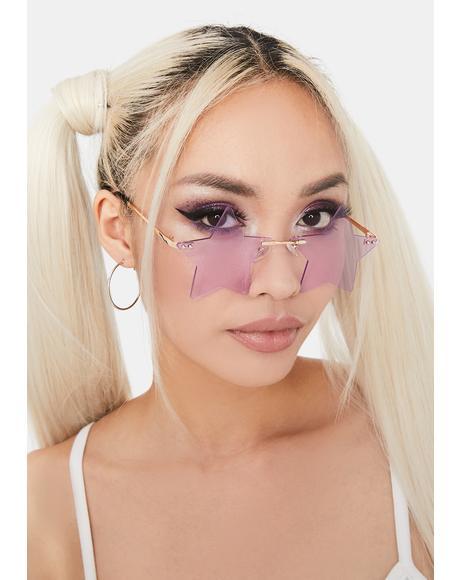 Lilac Wish Come True Star Sunglasses
