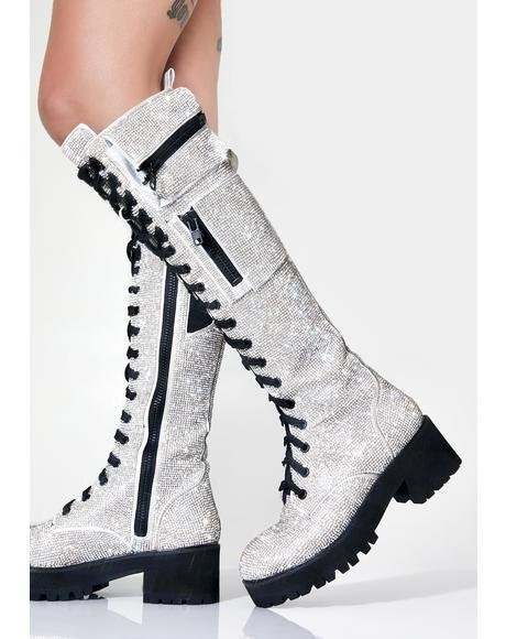 Icy Bling Brigade Pocket Combat Boots