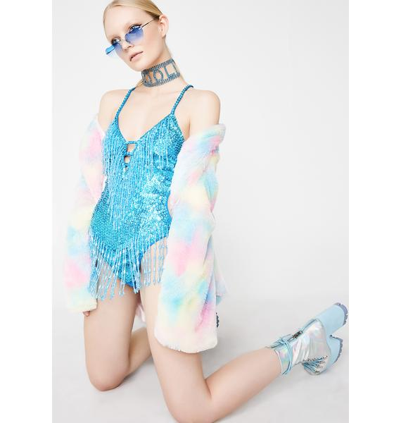 EASY TIGER Ice Shimmy Shimmy Holographic Bodysuit
