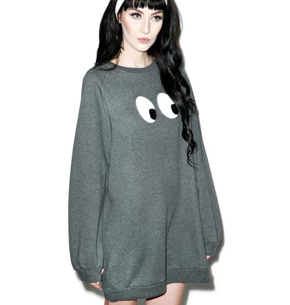 Lazy Oaf Eyeball Sweatshirt