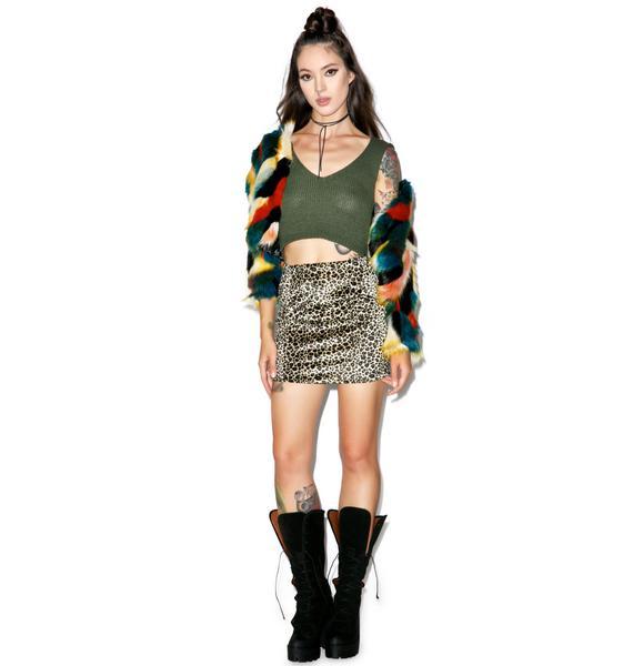 Glamorous Dirty Money Knit Crop Top