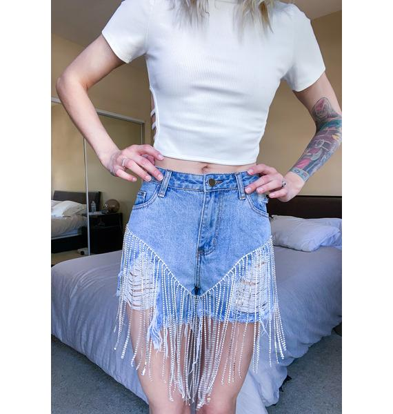 Shine On 'Em Denim Shorts