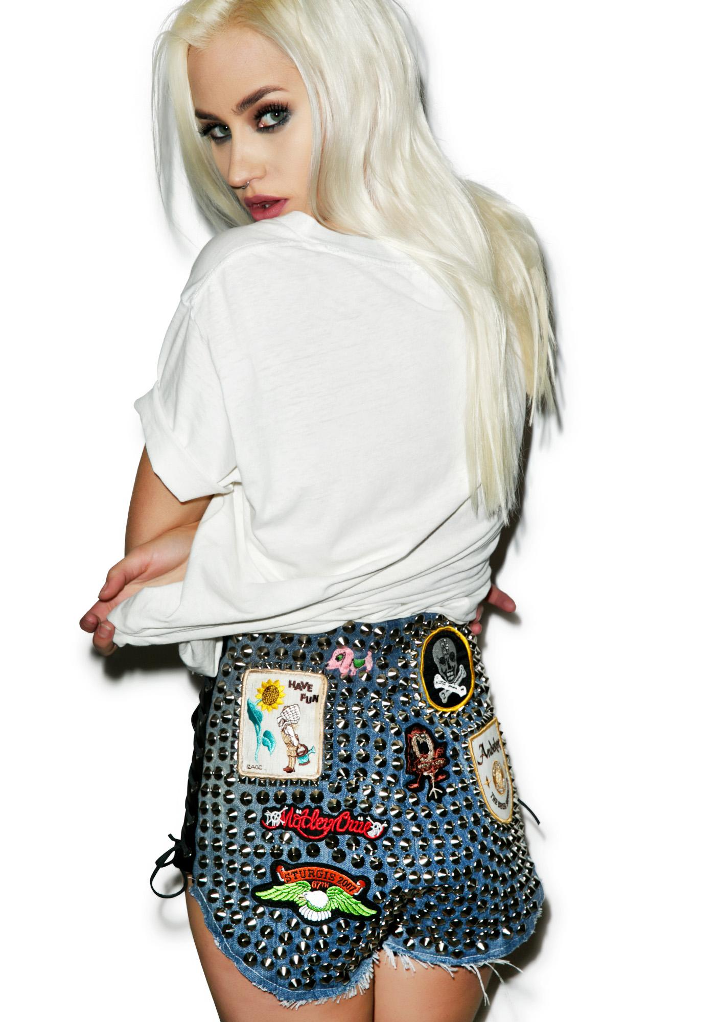 Hazmat Design High Waist Hell Raiser Shorts