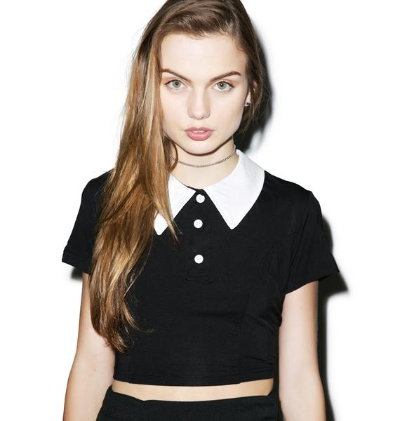 Killstar Addams Crop Top