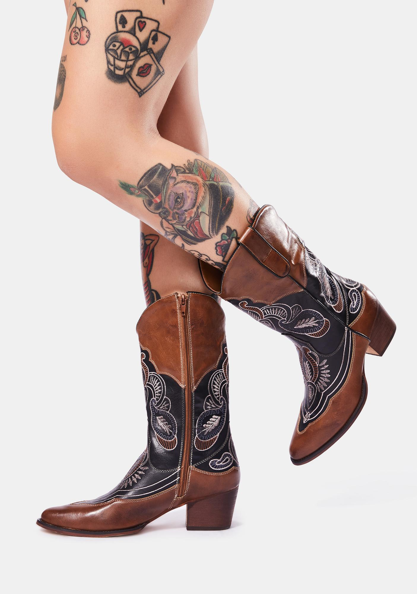 Whiskey On The Rocks Cowboy Boots