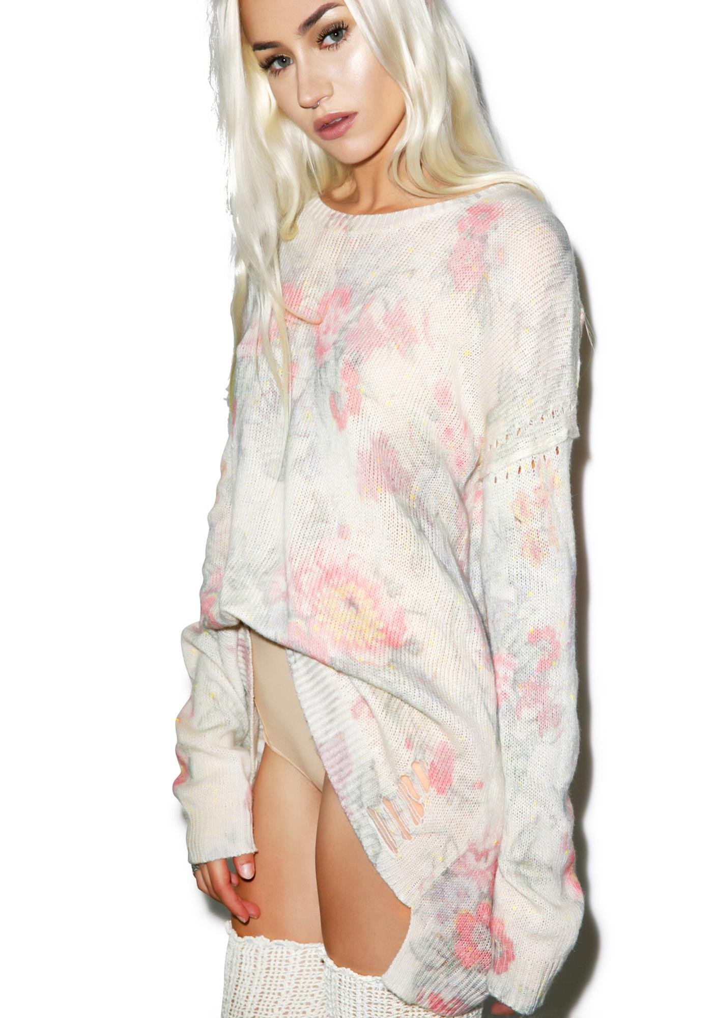 Wildfox Couture Old Florals Venice Canal Sweater