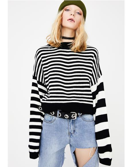 Heart Burglar Striped Sweater