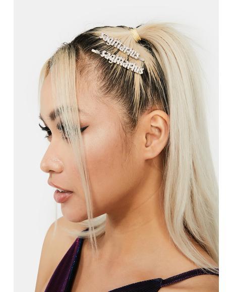 Glitzy Undercover Sagittarius Hair Pins
