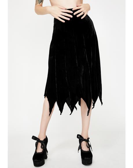 Cybele Velvet Midi Skirt